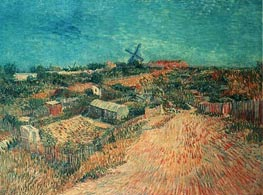 Vegetable Gardens in Montmartre: La Butte Montmart, June-July von Vincent van Gogh | Gemälde-Reproduktion