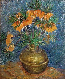 Crown Imperial Fritillaries in a Copper Vase, 1886 von Vincent van Gogh | Gemälde-Reproduktion