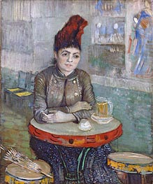 Agostina Segatori Sitting in the Cafe du Tambourin, c.1887/88 von Vincent van Gogh | Gemälde-Reproduktion
