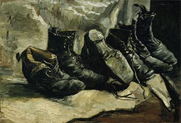 Three Pair of Shoes, c.1886/87 von Vincent van Gogh | Gemälde-Reproduktion