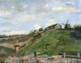 The Hill of Montmartre with Stone Quarry, 1886 von Vincent van Gogh | Gemälde-Reproduktion