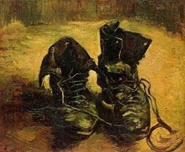 Schuhe, 1886 von Vincent van Gogh | Gemälde-Reproduktion