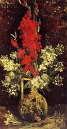 Vase with Gladioli and Carnations, Summer 188 von Vincent van Gogh | Gemälde-Reproduktion