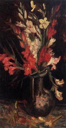 Vase with Red Gladioli, Summer 188 von Vincent van Gogh | Gemälde-Reproduktion