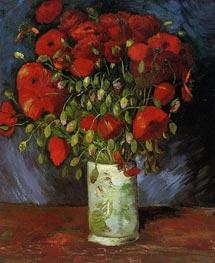 Vase with Red Poppies, Summer 188 von Vincent van Gogh | Gemälde-Reproduktion
