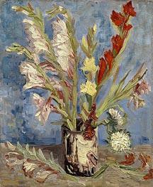 Vase with Gladioli, 1886 von Vincent van Gogh | Gemälde-Reproduktion