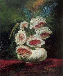 Vase mit Pfingstrosen, 1886 von Vincent van Gogh | Gemälde-Reproduktion