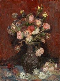 Vase mit Astern und Gladiolen Chinese, 1886 von Vincent van Gogh | Gemälde-Reproduktion