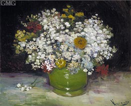 Vase with Zinnias and Other Flowers, 1886 von Vincent van Gogh | Gemälde-Reproduktion