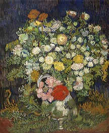 Bouquet of Flowers in a Vase, c.1889/90 by Vincent van Gogh | Painting Reproduction