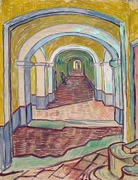 Corridor in the Asylum | Vincent van Gogh | Gemälde Reproduktion