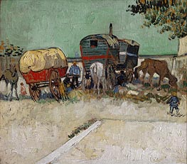 Encampment of Gypsies with Caravans, 1888  von Vincent van Gogh | Gemälde-Reproduktion