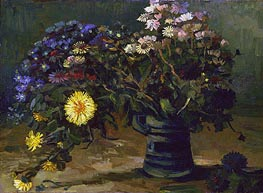 Still Life with a Bouquet of Daisies, 1886 by Vincent van Gogh | Painting Reproduction