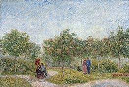 Garden with Courting Couples: Square Saint-Pierre | Vincent van Gogh | veraltet