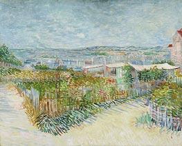 Montmartre: Behind the Moulin de la Galette | Vincent van Gogh | Gemälde Reproduktion