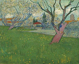 Orchards in Blossom, View of Arles | Vincent van Gogh | Gemälde Reproduktion