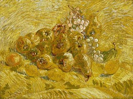 Quinces, Lemons, Pears and Grapes, 1887 by Vincent van Gogh | Painting Reproduction