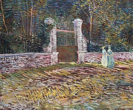 Entrance to the Voyer-d'Argenson Park at Asnieres | Vincent van Gogh | veraltet