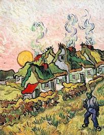 Ferienhäuser in der Sonne - Reminiszenz an den Norden | Vincent van Gogh | Gemälde Reproduktion