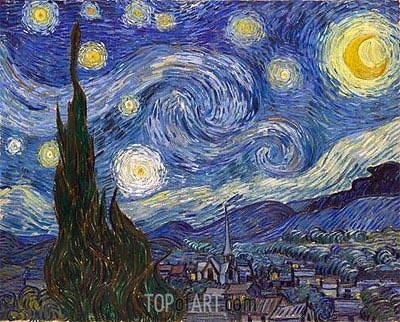 Sternennacht, 1889 | Vincent van Gogh | Gemälde Reproduktion