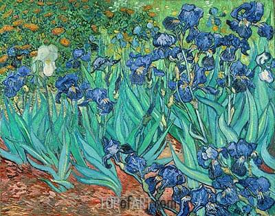 Irises, 1889 | Vincent van Gogh | Painting Reproduction
