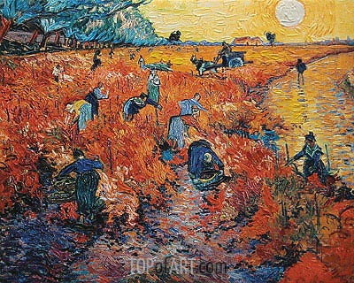 Red Vineyards at Arles, 1888 | Vincent van Gogh| Gemälde Reproduktion