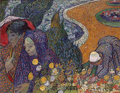Memory of the Garden at Etten (Women of Arles), 1888 | Vincent van Gogh| Painting Reproduction