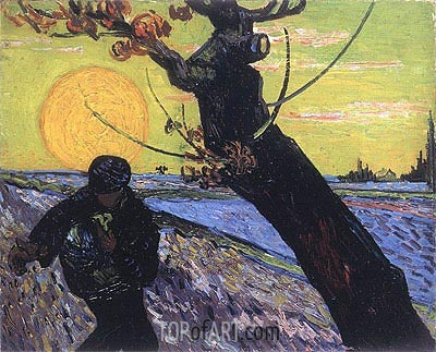 The Sower, 1888 | Vincent van Gogh | Painting Reproduction