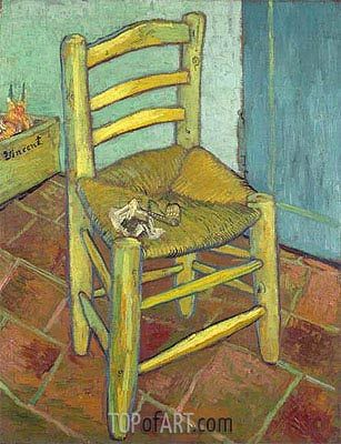 Vincent's Chair with His Pipe, 1888 | Vincent van Gogh | Painting Reproduction