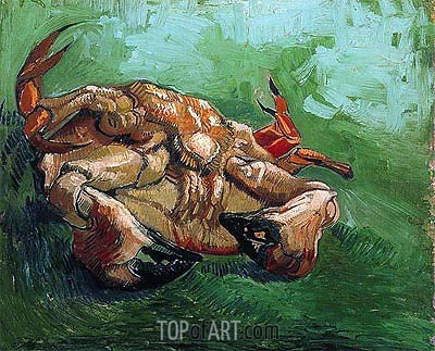Crab on Its Back, 1889 | Vincent van Gogh | Painting Reproduction