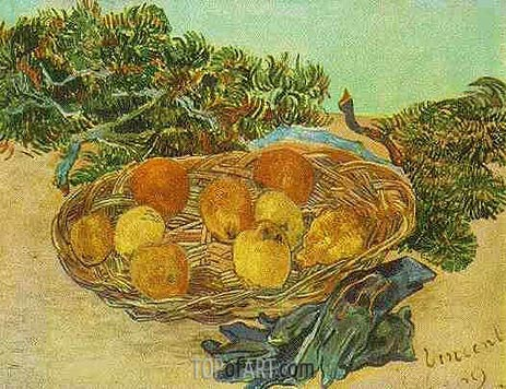 Vincent van Gogh | Still Life with Oranges, Lemons and Blue Gloves, January 18