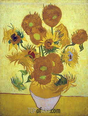 Still Life: Vase with Fourteen Sunflowers, 1889 | Vincent van Gogh| Gemälde Reproduktion