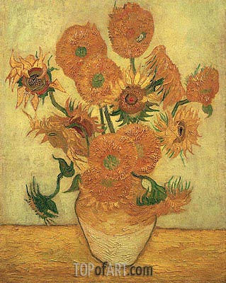 Still Life: Vase with Fourteen Sunflowers, 1889 | Vincent van Gogh | Gemälde Reproduktion
