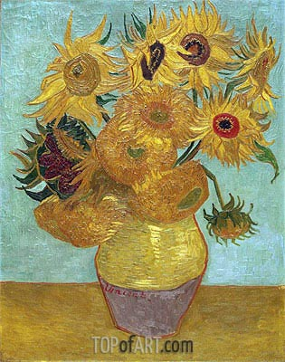 Vincent van Gogh | Still Life: Vase with Twelve Sunflowers, c.1888/89