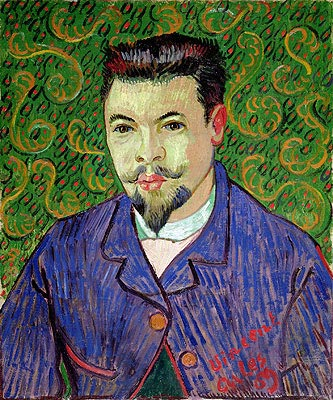 Portrait of Doctor Felix Rey, 1889 | Vincent van Gogh| Painting Reproduction