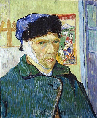 Self-Portrait with Bandaged Ear, 1889 | Vincent van Gogh| Painting Reproduction