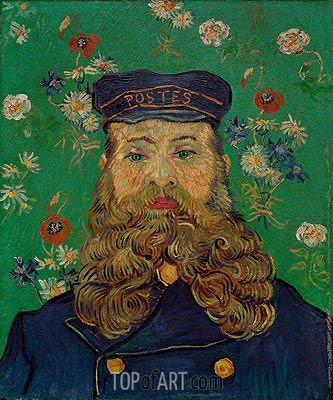 Portrait of the Postman Joseph Roulin, 1889 | Vincent van Gogh| Painting Reproduction