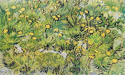 A Field of Yellow Flowers, 1889 | Vincent van Gogh | Gemälde Reproduktion