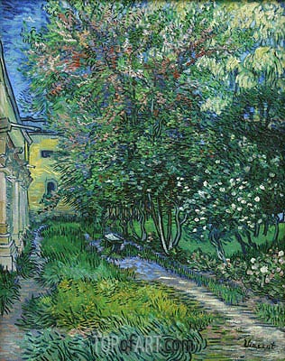 The Garden of the Asylum at Saint-Remy, May 1889 | Vincent van Gogh | Painting Reproduction