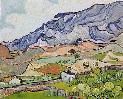 Les Alpilles, Mountainous Landscape, Saint-Remy, 1889 | Vincent van Gogh | Painting Reproduction