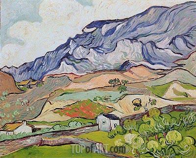 Les Alpilles, Mountainous Landscape, Saint-Remy, 1889 | Vincent van Gogh | Gemälde Reproduktion