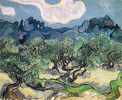 The Olive Trees, 1889 | Vincent van Gogh | Gemälde Reproduktion