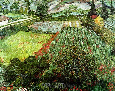 Field with Poppies, 1889 | Vincent van Gogh | Painting Reproduction