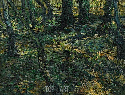 Undergrowth with Ivy, 1889 | Vincent van Gogh | Painting Reproduction