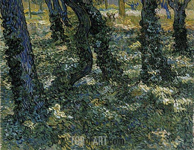 Undergrowth, 1889 | Vincent van Gogh| Painting Reproduction