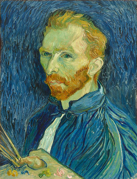 Self Portrait, 1889 | Vincent van Gogh| Painting Reproduction
