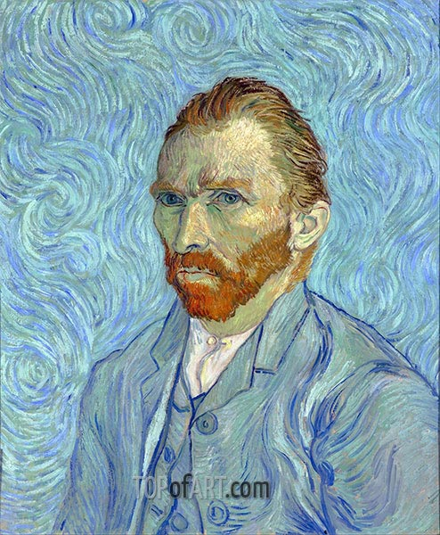 Self Portrait, 1889 | Vincent van Gogh | Gemälde Reproduktion