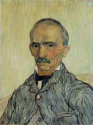 Portrait of Superintendant Trabuc in St. Paul's Hospital, 1889 | Vincent van Gogh | Gemälde Reproduktion