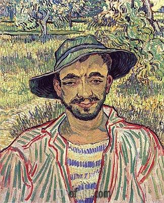 Vincent van Gogh | Portrait of a Young Peasant, 1889