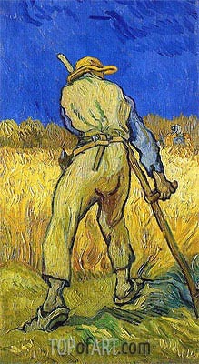 The Reaper (after Millett), 1889 | Vincent van Gogh| Painting Reproduction